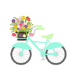 Bicycle with spring flowers