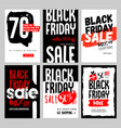 black friday sale mobile banners vector image vector image