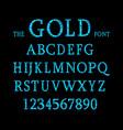 blue metallic font vector image vector image