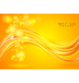Bright yellow wavy background vector image vector image