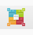 business infographics with 4 colorful steps vector image
