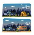 camping tent and bonfire vector image