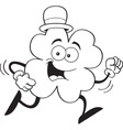 Cartoon shamrock running vector image vector image