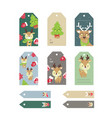 christmas tags cute collection set labels vector image vector image