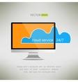 Cloud service on computer screen icon Twenty-four vector image