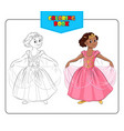 Coloring book Princess vector image vector image