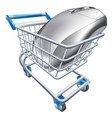 computer mouse in trolley vector image