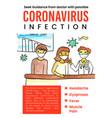 corona virus global pandemic poster design vector image