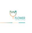 Creative gradient logo on a floral studio vector image vector image