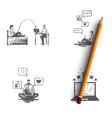 crm - feedback opinion review vector image vector image