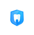 dental insurance icon vector image vector image