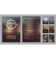 Design coffee menu with blurred background vector image vector image