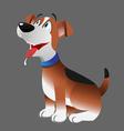 Dog beagle panting vector image