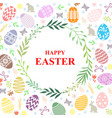 easter greeting card on decorative background vector image
