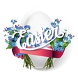 Easter greeting card vector image vector image