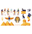 egypt collection ancient egyptian gods vector image vector image