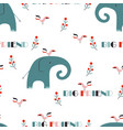elephant seamless pattern vector image vector image