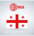 flag of georgia isolated on modern background vector image vector image