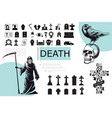 flat death elements composition vector image vector image