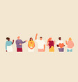 friendly positive people set vector image vector image