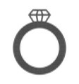 gem ring halftone dotted icon vector image