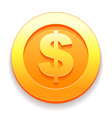 Gold Coins icon from game vector image vector image