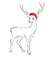 Holiday symbol icon colorful cute reindeer in