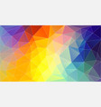 horizontal polygonal banner background vector image vector image