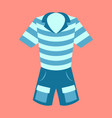 icon in flat design fashion clothes shorts and vector image vector image