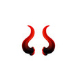 icon red swirl realistic devils horns vector image vector image