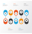 internet icons set collection of laptop gif vector image vector image