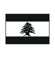 Lebanon flag monochrome on white background vector image vector image