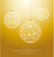 Luxury Merry Christmas baubles background EPS10 vector image