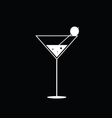 martini black and white vector image vector image
