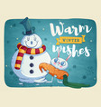 merry christmas greeting cards retro design vector image
