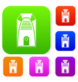 modern electric home heater set color collection vector image vector image
