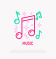 music at party thin line icon vector image
