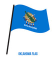 oklahoma us state flag waving on white background vector image