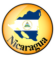orange button with the image maps of Nicaragua vector image