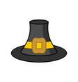 pilgrim hat isolated old black cap traveler on vector image