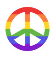 rainbow peace sign vector image