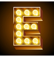 Realistic old lamp alphabet for light board vector image vector image