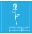 Rose sign White section of icon on vector image vector image