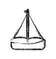 sail boat icon vector image vector image