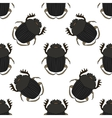 Seamless pattern with dor-beetle Geotrupidae vector image vector image