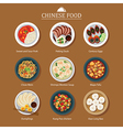 set of chinese food vector image vector image
