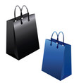 set of empty shopping bags isolated in white vector image vector image