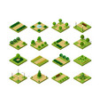 set of isometric urban parks city natural vector image vector image