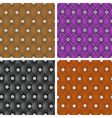 Set of upholstery seamless pattern vector image