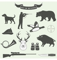 Set of vintage labels on hunting